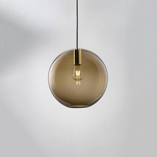LOUM Loon Ball hengelampe glass brun, krom