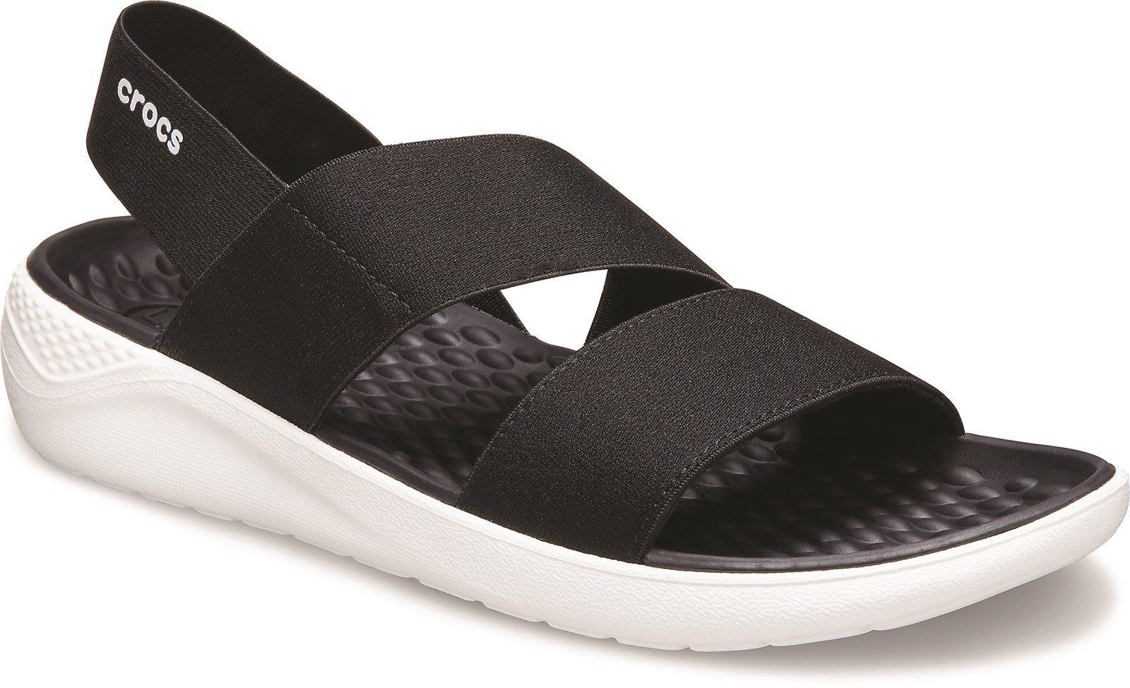 Crocs Women's Lite Ride Stretch Slip On Sandal Various Colours 31455 - Black 3