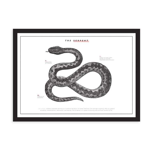 A3 The Serpent Riso Print