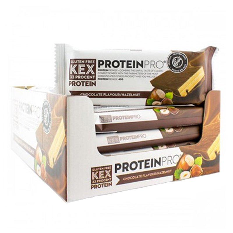 """Laatikollinen proteiinikeksejä """"Chocolate & Hasselpähkinä"""" 20 x 40 g - 50% alennus"""