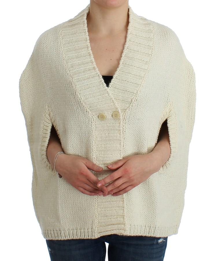Costume National Women's Knitted Cardigan White SIG12088 - M