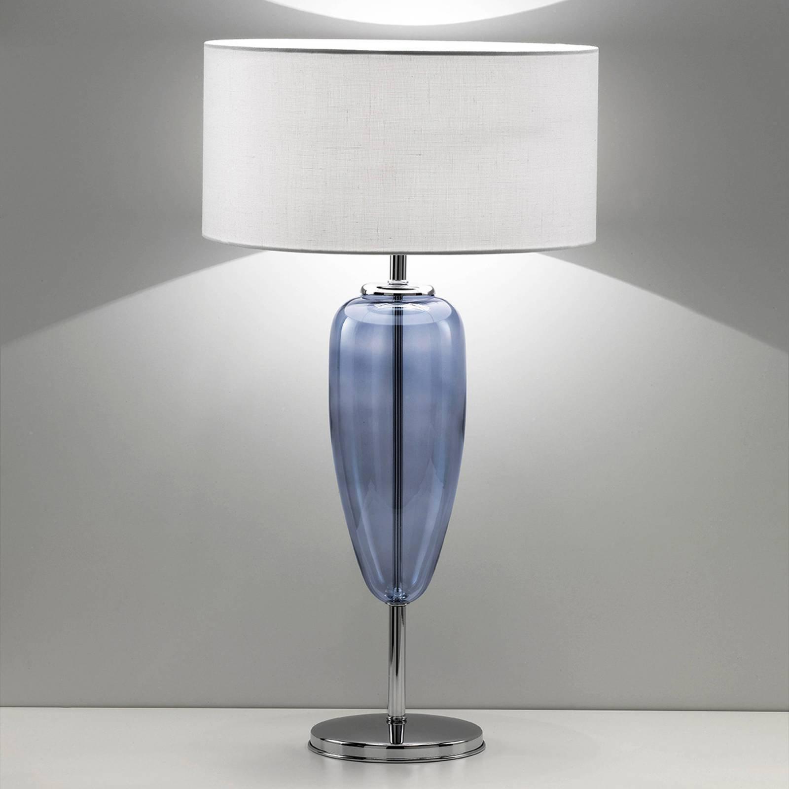 Bordlampe Show Ogiva 82 cm glasselement blå