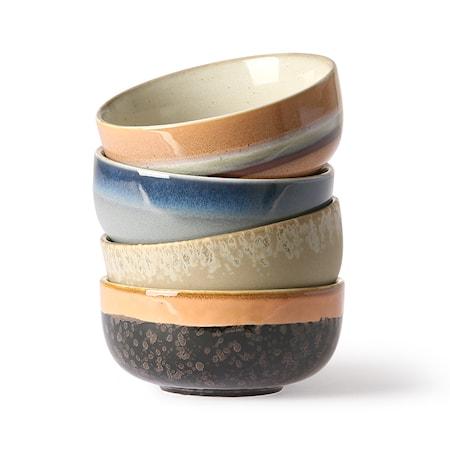 Ceramic 70's tapas Skåls 4 st