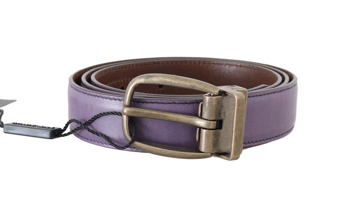 Dolce & Gabbana Men's Shiny Leather Buckle Belt Gold BEL50019 - 100 cm / 40 Inches