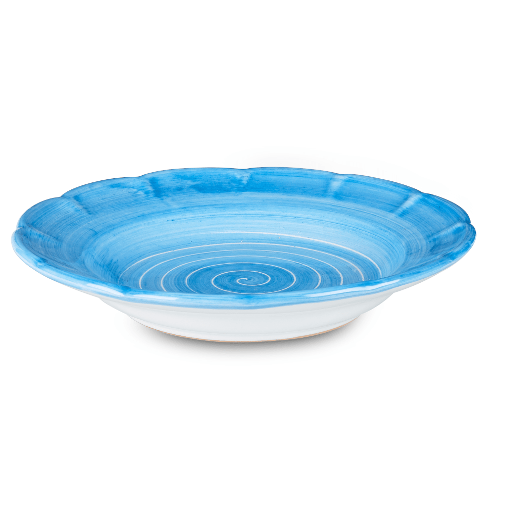 Spiral Pasta Dish 23.5cm in Sky Blue by Sol'Art