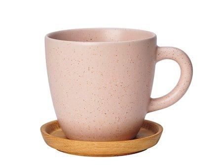 Höganäs keramisk kaffekrus 33 cl med tefat - Vildros
