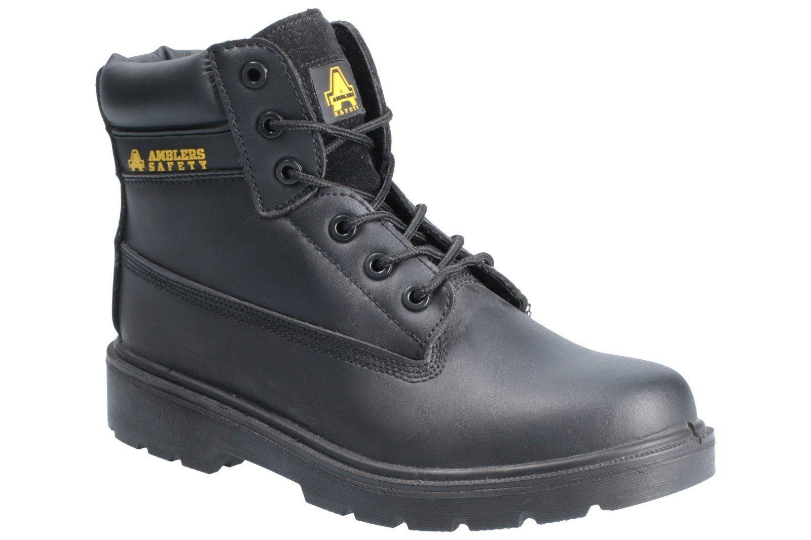 Amblers Unisex Safety Metal Free Hardwearing Lace up Boot Black 21395 - Black 3