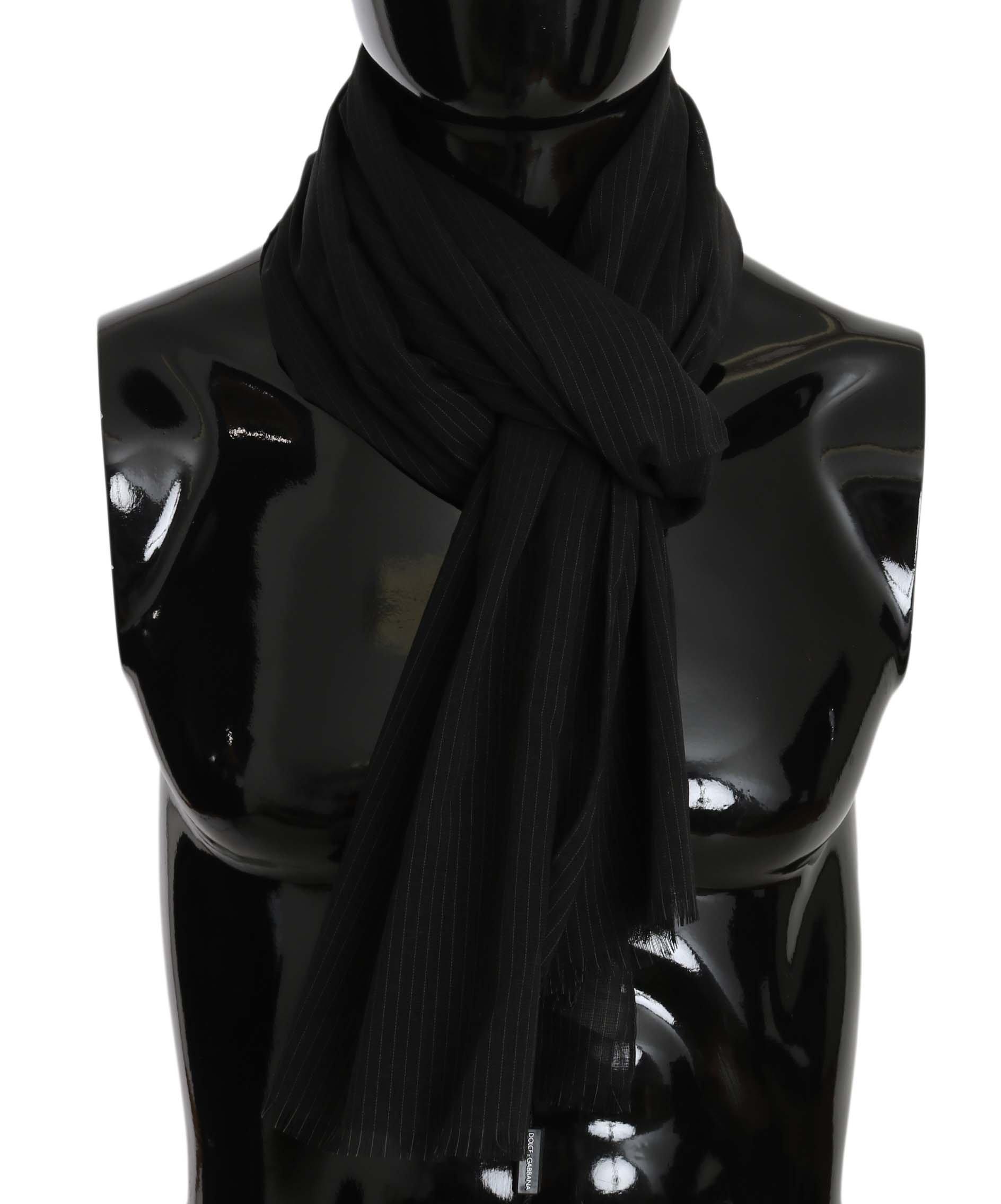 Dolce & Gabbana Men's Wool White Lining Scarf Gray MS5215