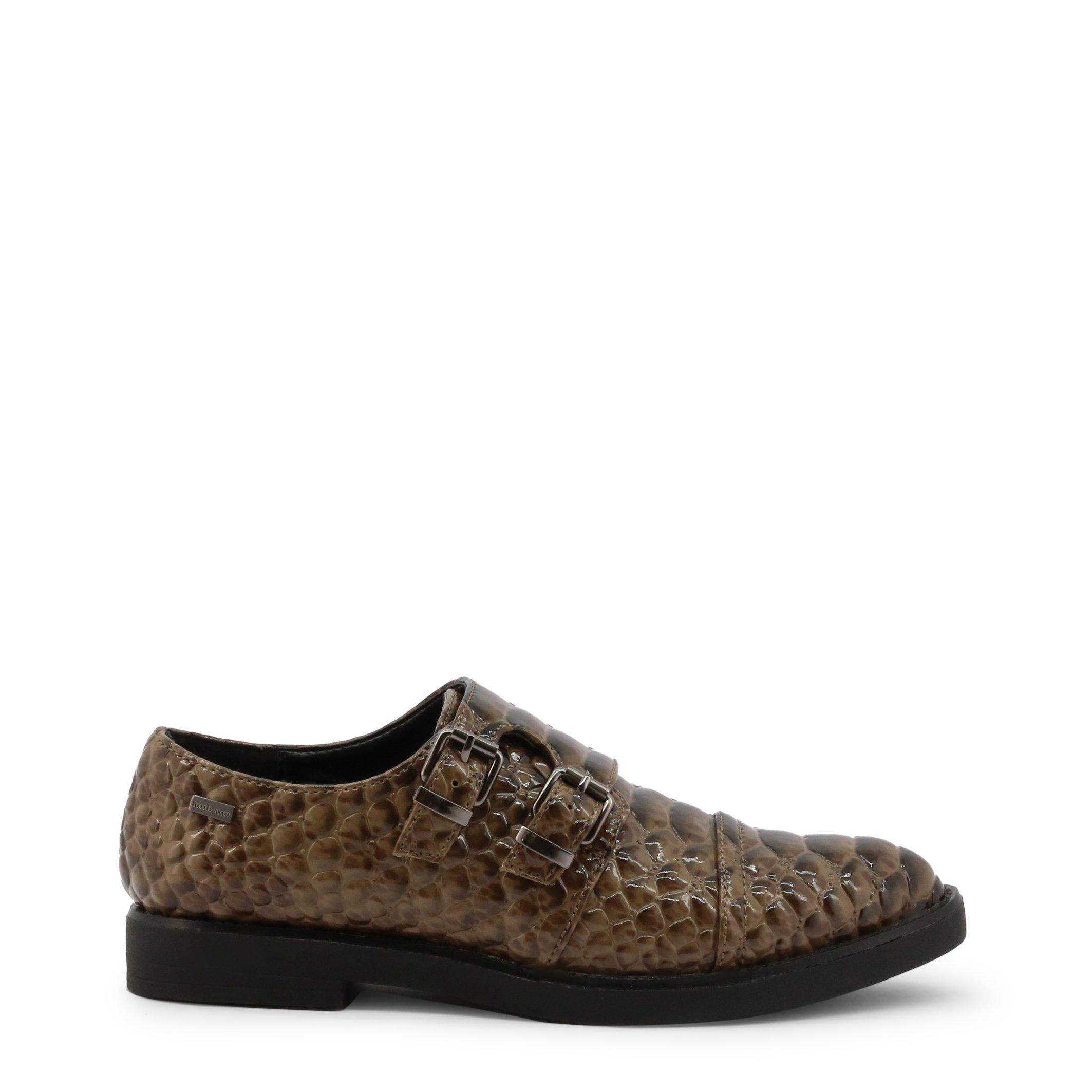 Roccobarocco Women's Flat Shoes Brown 343282 - brown-1 EU 35