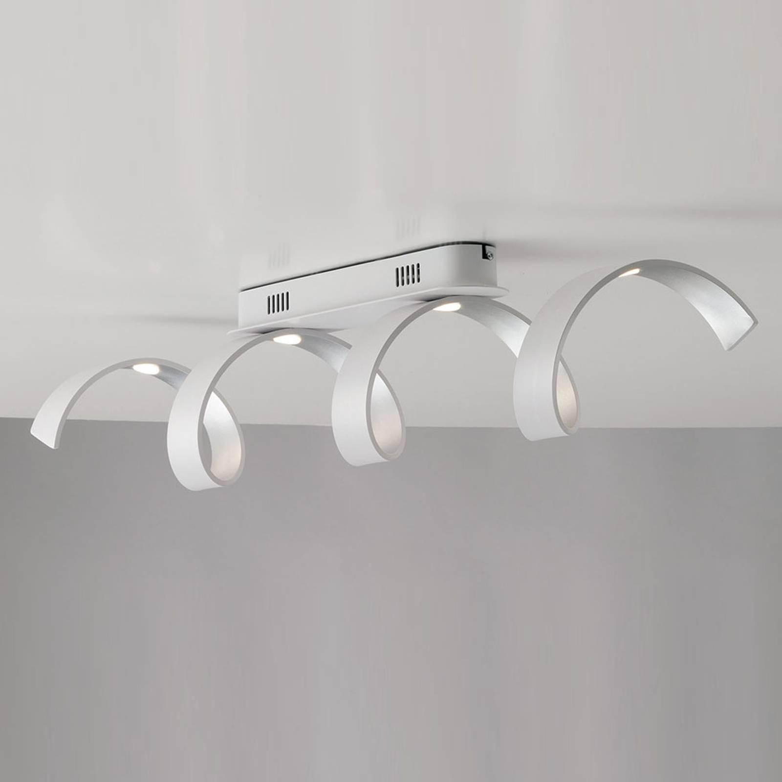 LED-seinävalaisin Helix, valkoinen-hopea