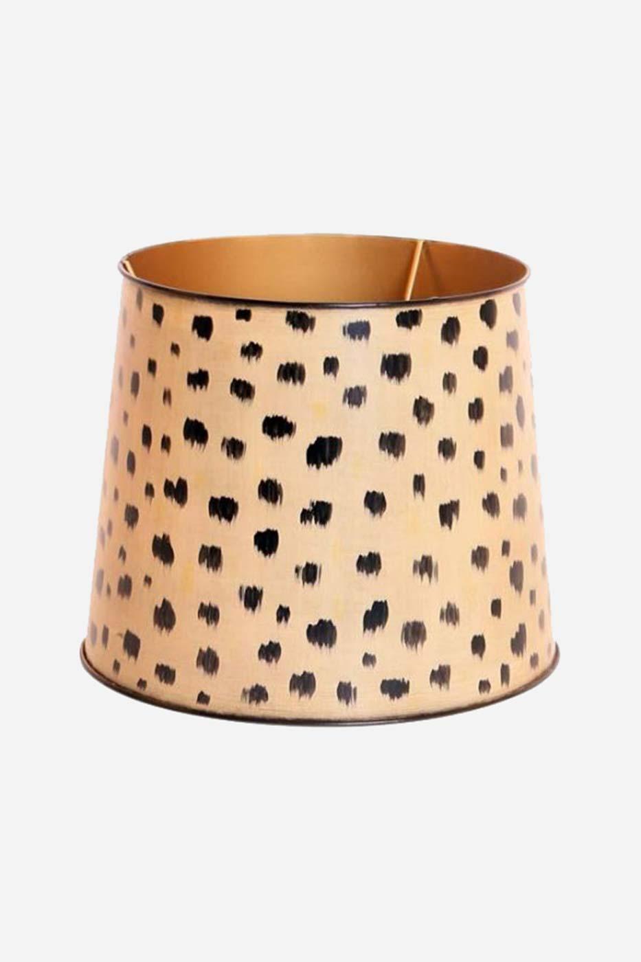 Lampskärm rund 30 cm metall gepard