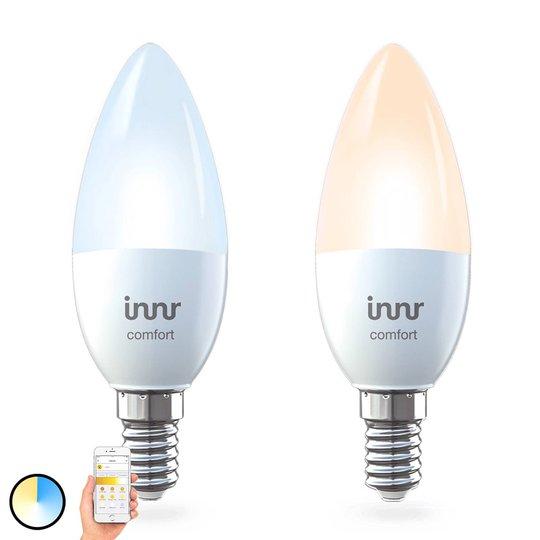 E14 5,8 W LED-pære Innr Smart Candle Comfort, 2er