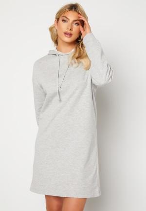 ONLY Dreamer Life Sweat Hood Dress Ligth Grey Melange M
