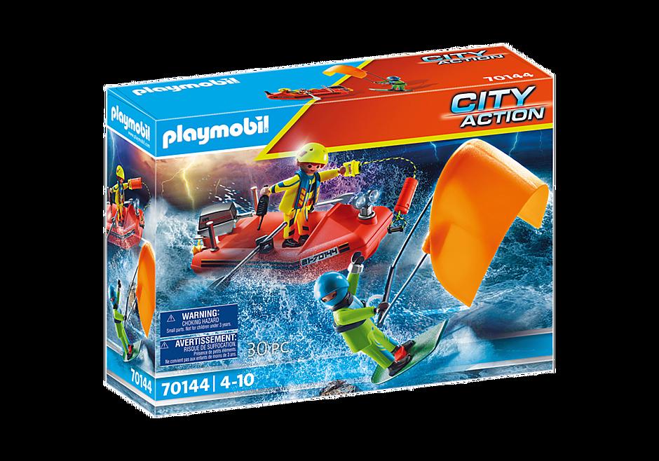 Playmobil - Sea Rescue: Kitesurfer rescue with boat (70144)
