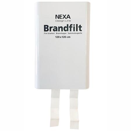 Nexa Fire & Safety FBDH-105 Brandfilt Vit 120x120 cm HÃ¥rdbox