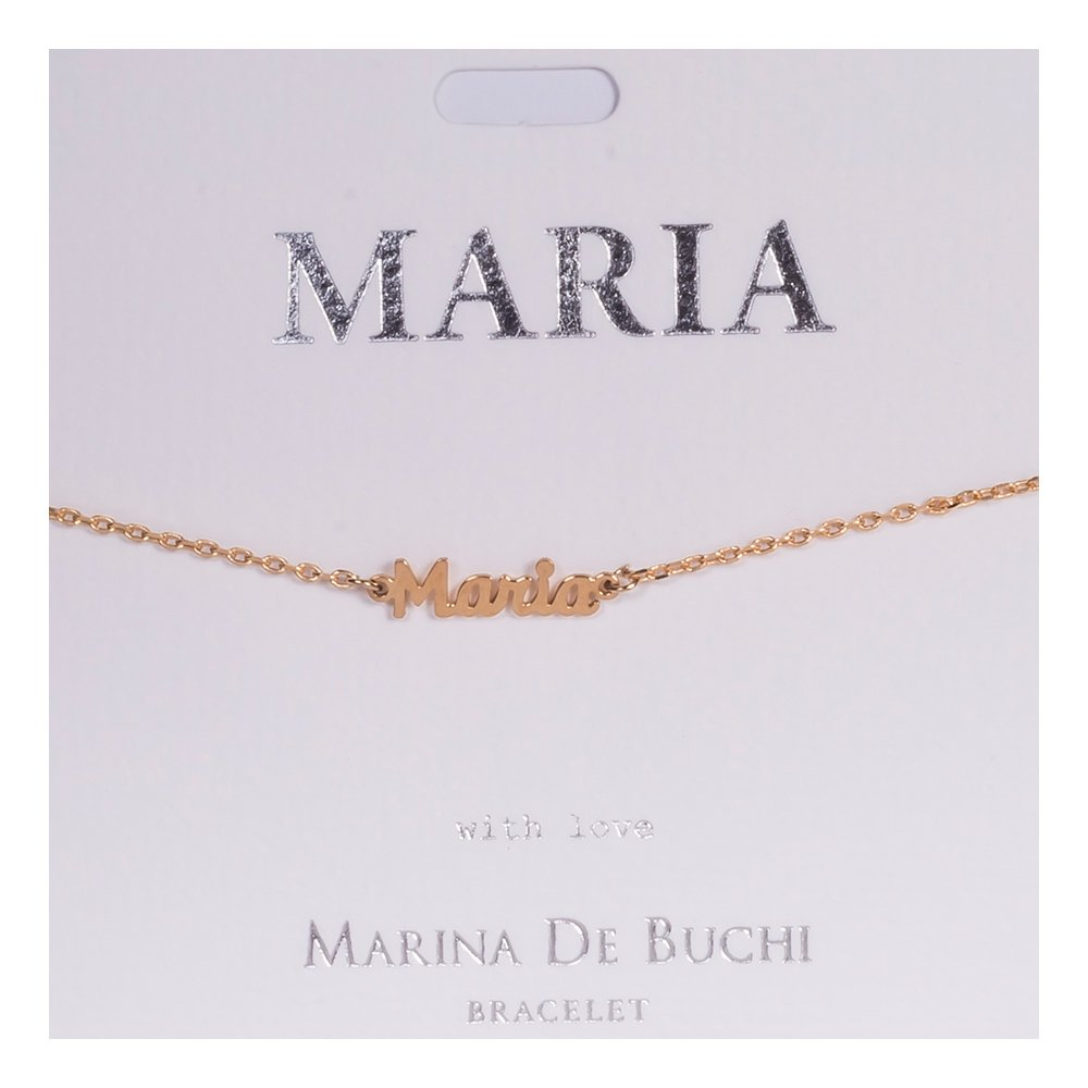 Namnarmband Guld - Maria