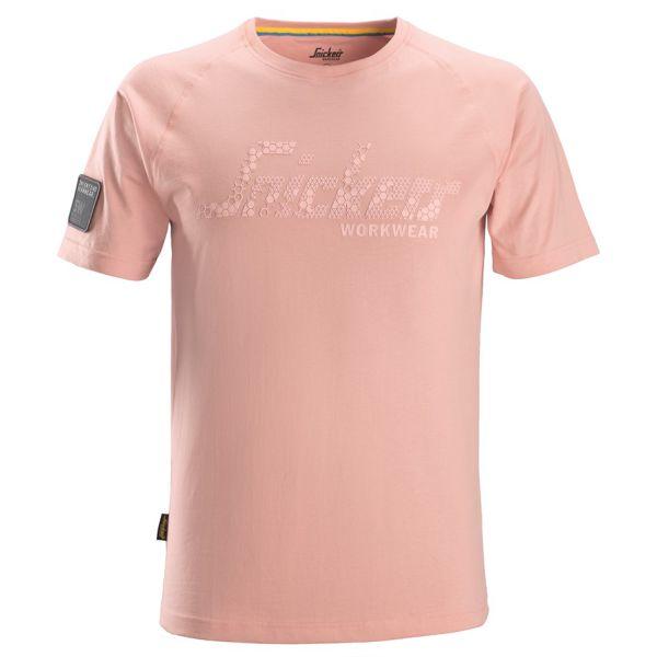 Snickers 2580 T-paita vaaleanpunainen XS