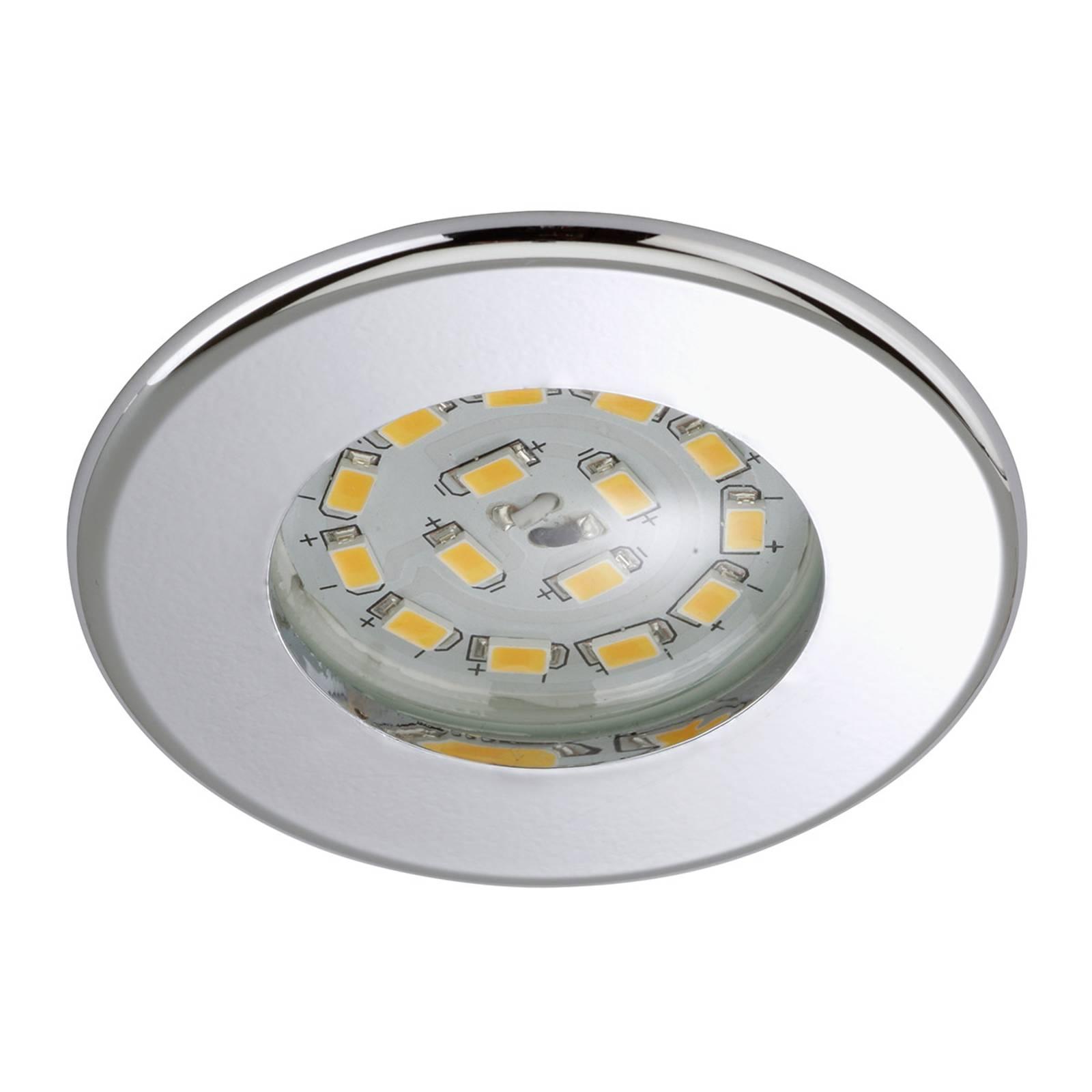 Tehokas LED-uppokohdevalaisin Nikas IP44 kromi