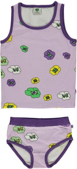 Småfolk Blomster Undertøyssett, Lavender 1-2år