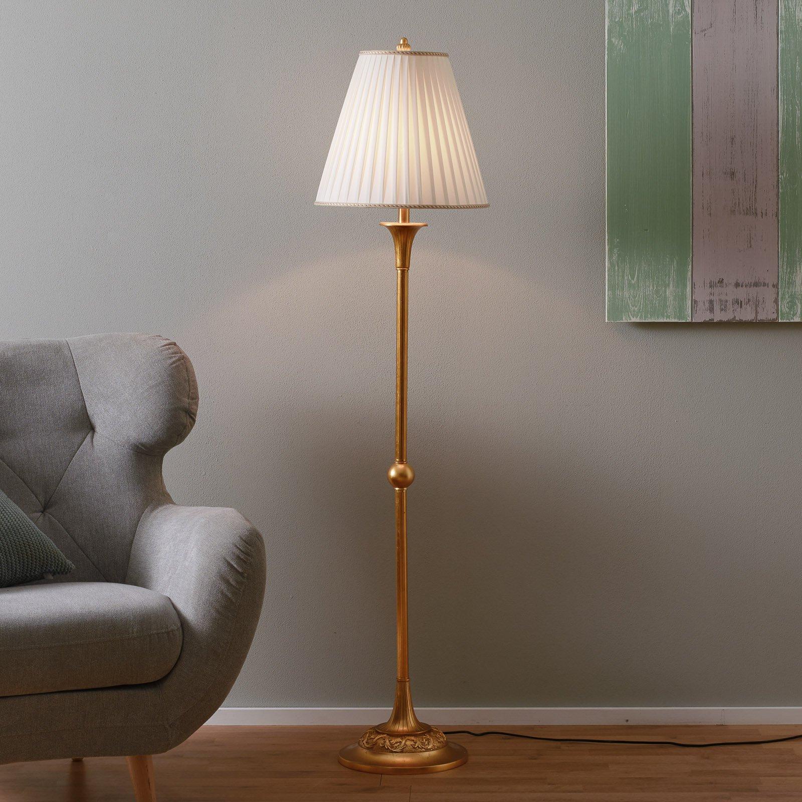 Stilig DONATA stålampe med plisséskjerm