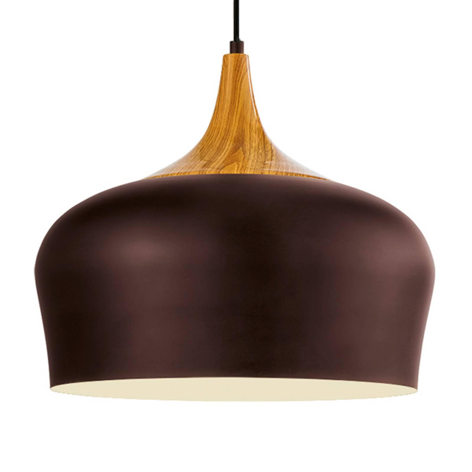 Obregon – kauniinmuotoinen ruskea riippuvalaisin