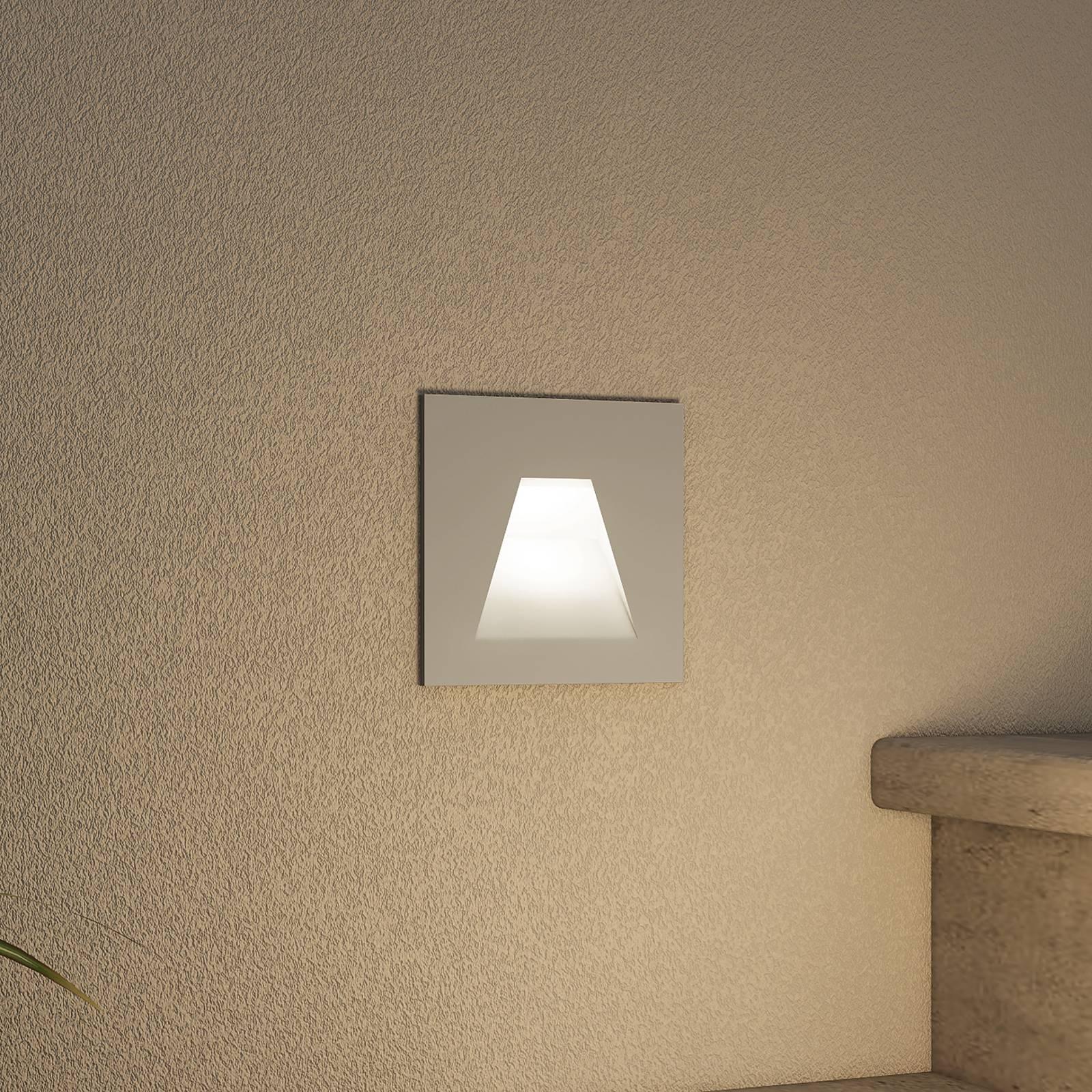 Arcchio Lasca -LED-uppovalaisin, hopea