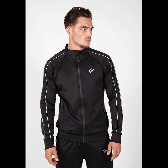 Wenden Track Jacket, Black/White
