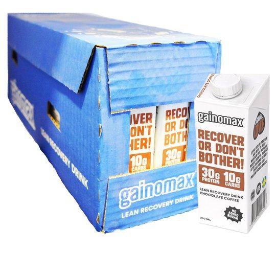 """Laatikollinen palautusjuomaa """"Recovery Drink Choco & Coffee"""" 16 x 250 ml - 40% alennus"""