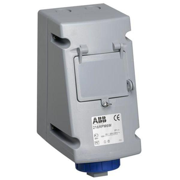 ABB 2CMA168205R1000 Seinäpistorasia automaattisulakkeilla, musta IEC-virta: 16 A