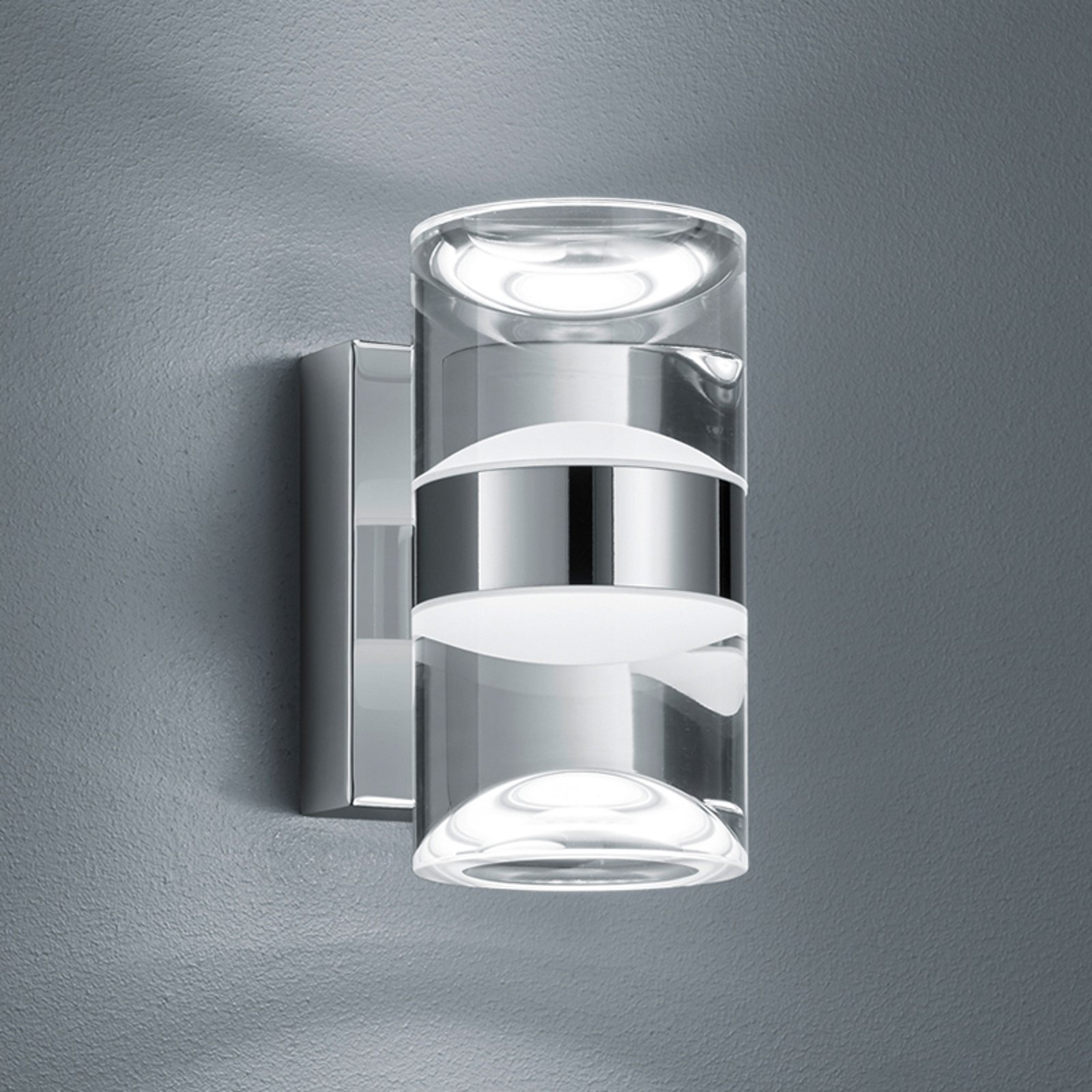 Opp- og nedadstrålende LEDvegglampe til bad Ria