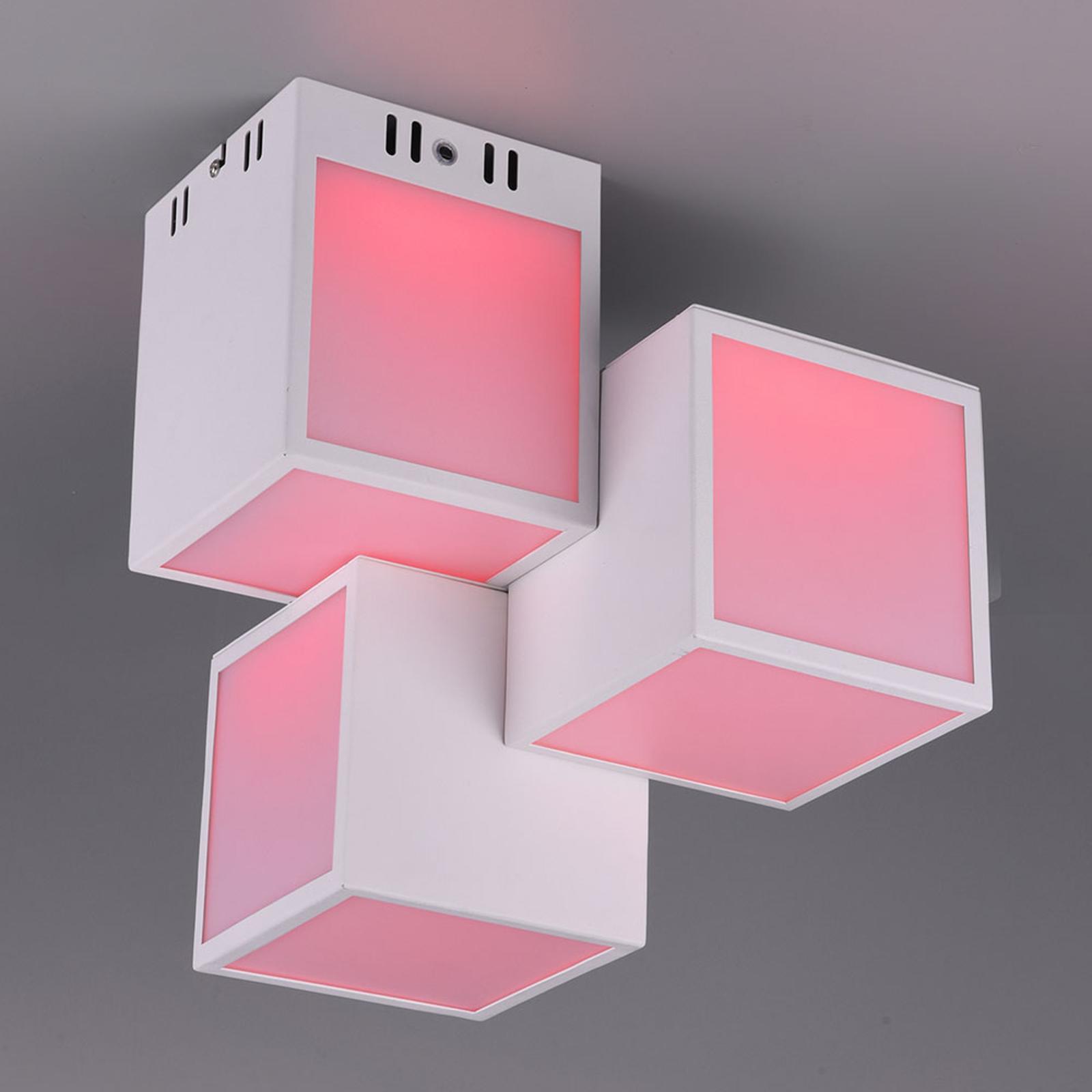 Trio WiZ Oscar LED-kattovalo 30x30cm, valkoinen