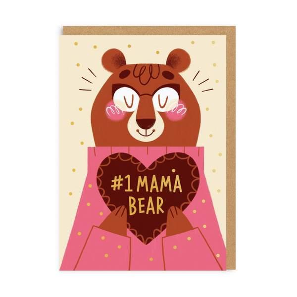 Mum Number 1 Mama Bear Greeting Card