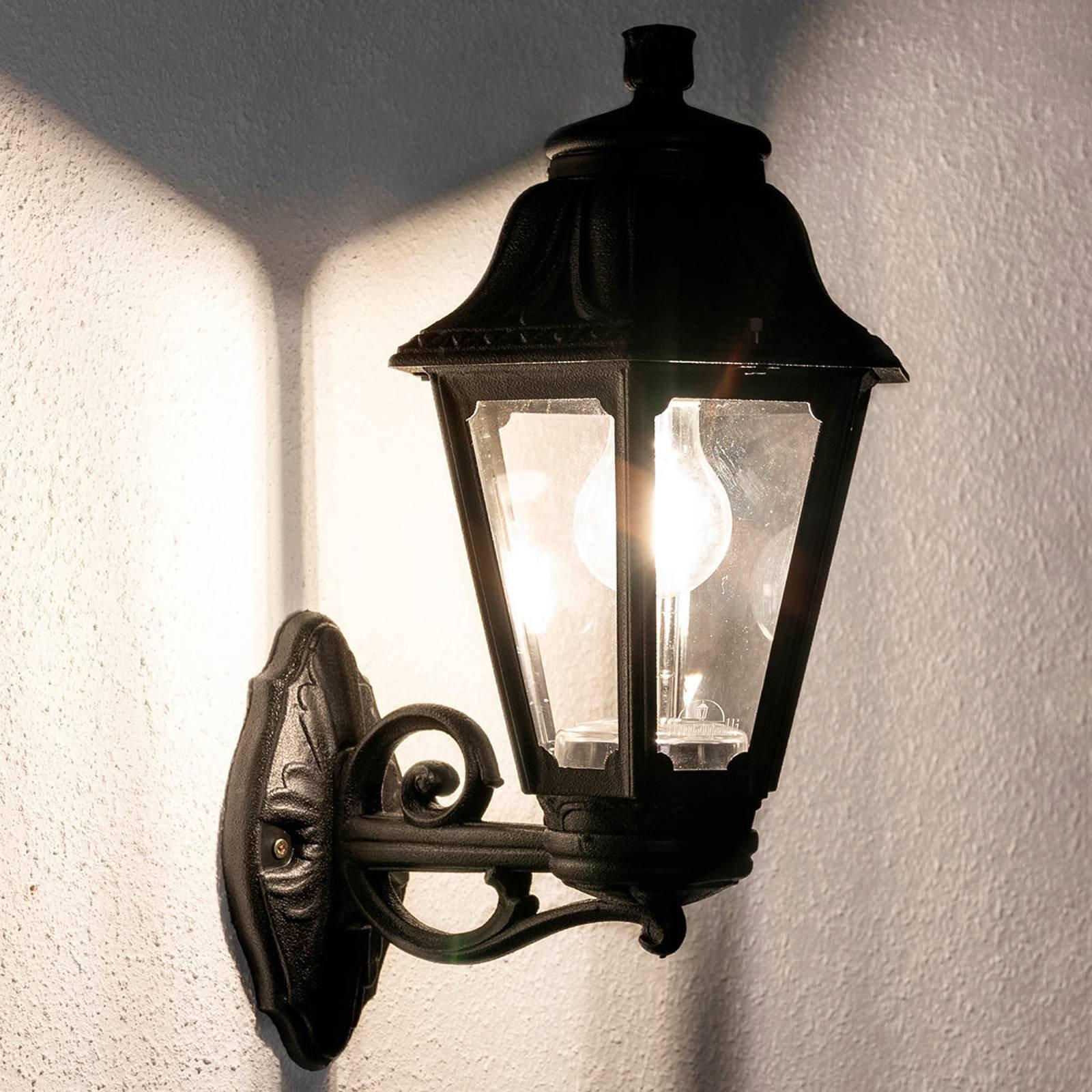 LED-vegglampe Bisso Anna E27 svart oppover