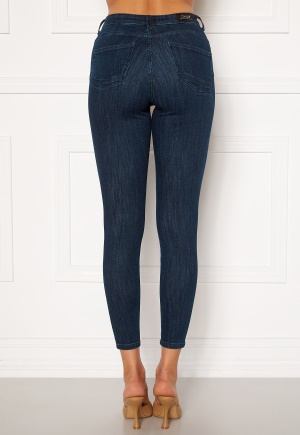 ONLY Power Life Mid Push Up Jeans Dark Blue Denim XS/32