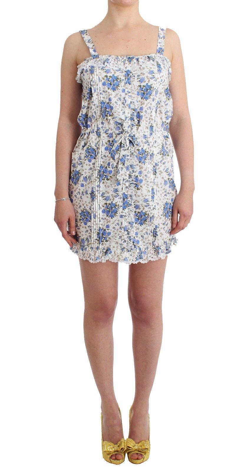 Ermanno Scervino Women's Floral Beach Mini Dress Blue SIG11509 - IT46