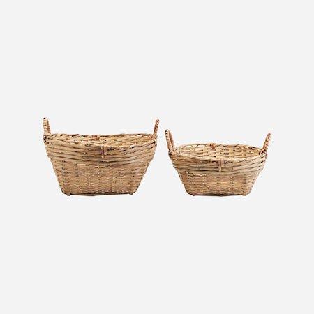 Kurver Sett med 2 størrelser Bambus h: 20 cm & h: 15 cm