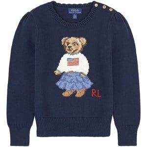 Ralph Lauren Teddy Bear Tröja Marinblå 6 år