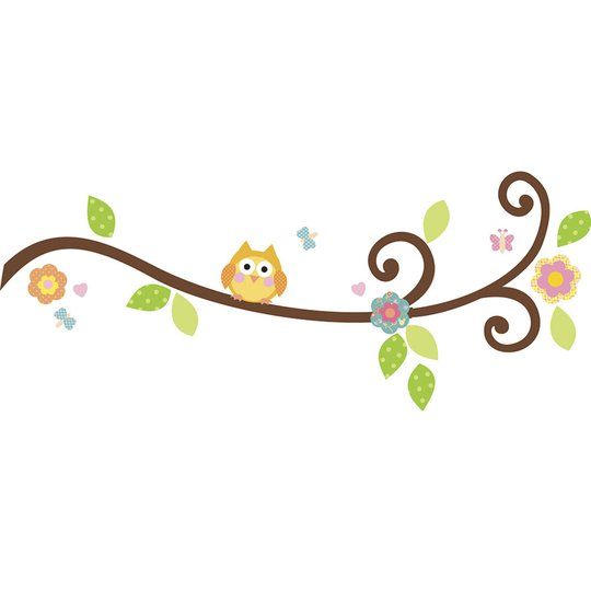 RoomMates Wallstickers Happi Scroll Branch