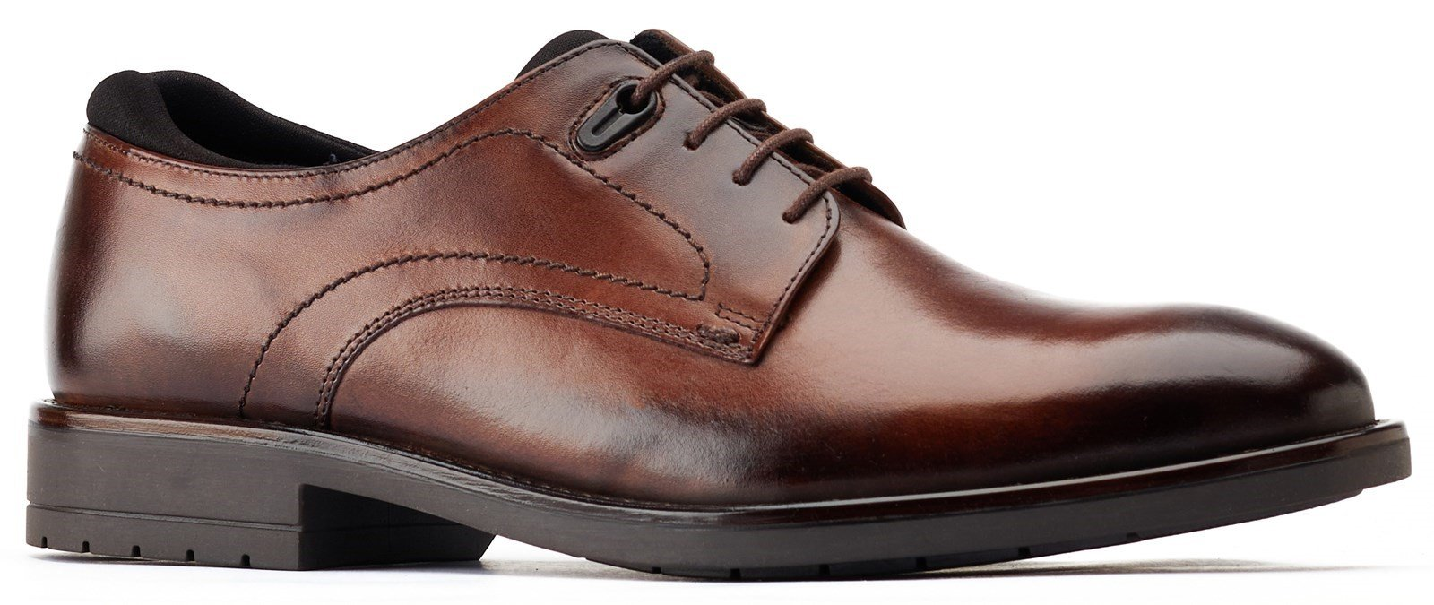 Base London Men's Osprey Plain Toe Derby Shoe Brown 31231 - Brown 6