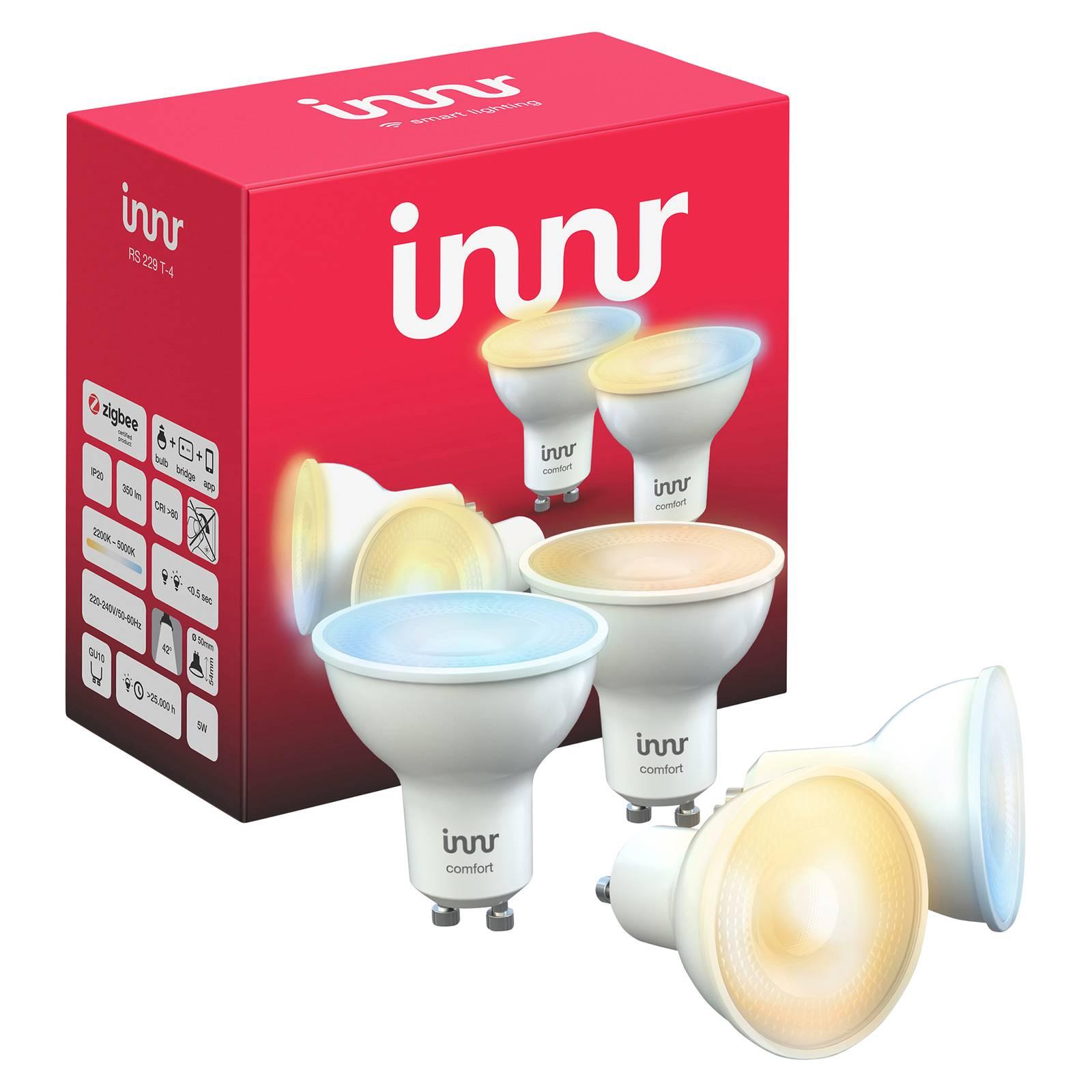 Innr LED-spotti GU10 5W 350lm, 2200–5000 K, 4 kpl