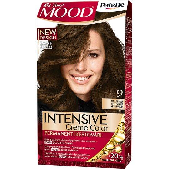 Mood Haircolor 9 Medium Brown, MOOD Hiusvärit