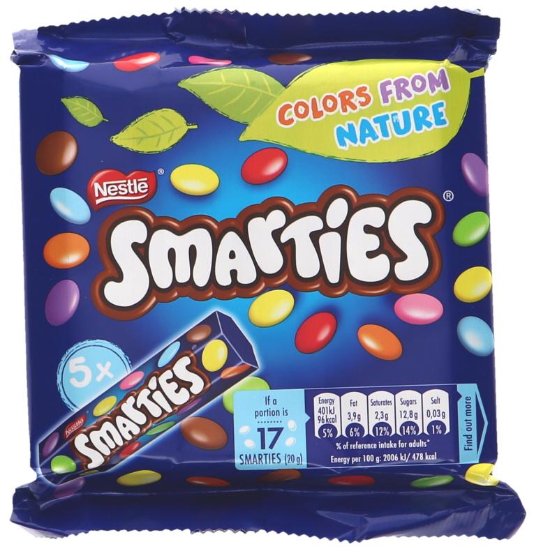 Smarties Maitosuklaarakeet 5kpl - 23% alennus