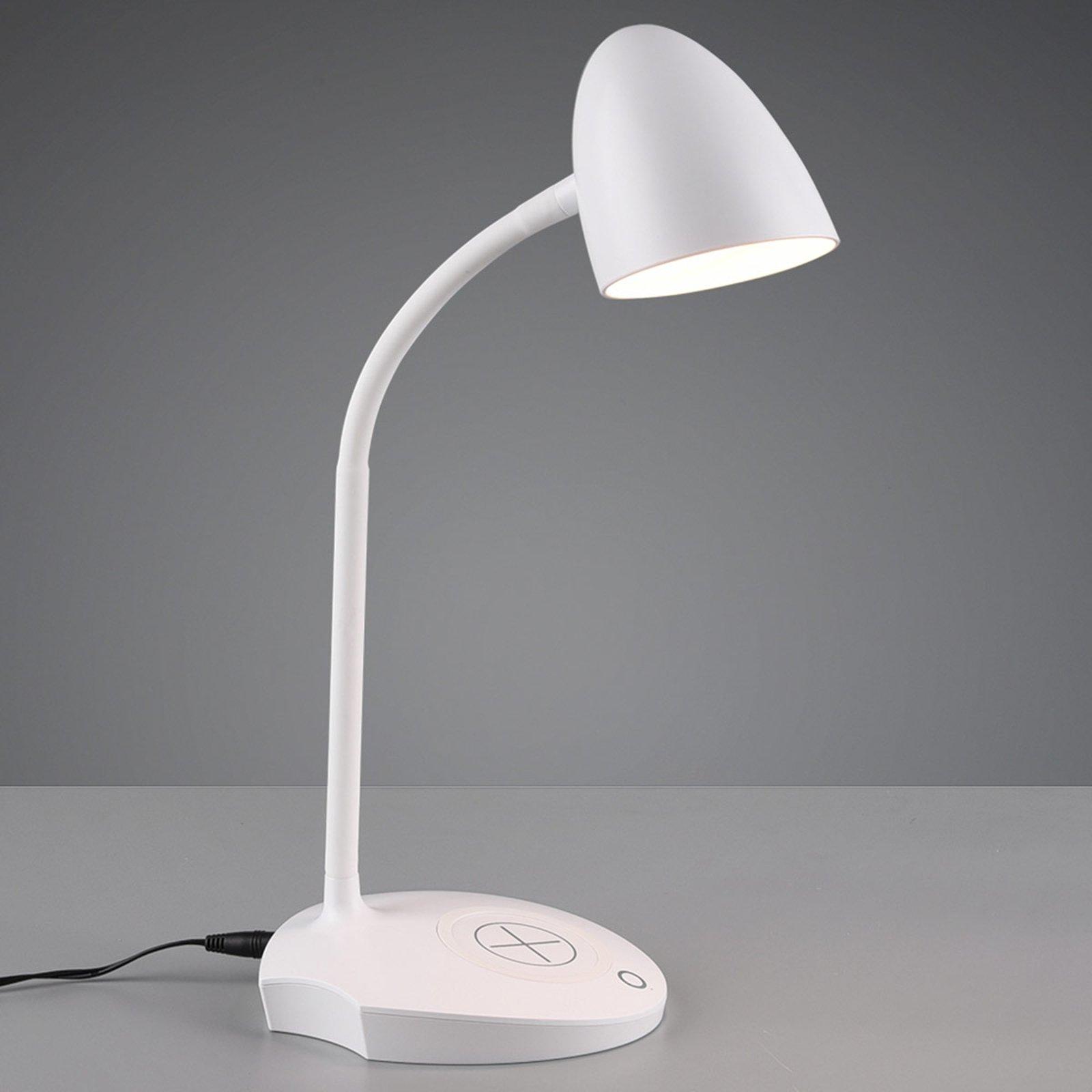 LED-bordlampe Load, induktiv ladestasjon, hvit