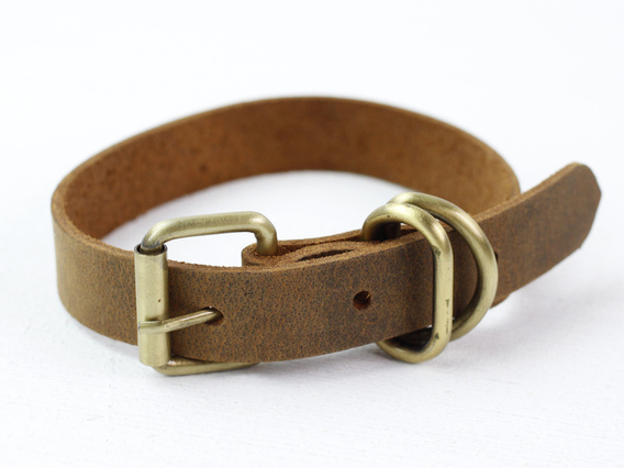 Leather Dog Collar Small