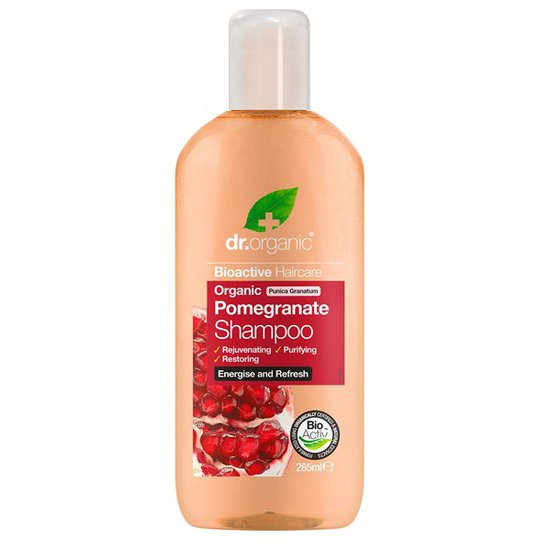 Dr. Organic Pomegranate Shampoo, 265 ml