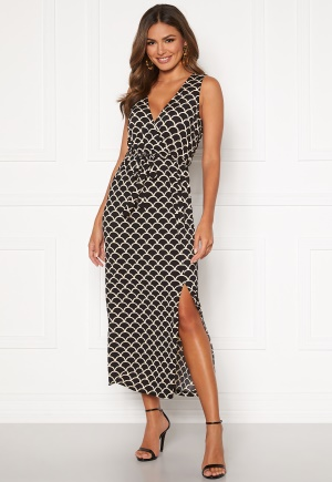 Happy Holly Sam maxi dress Black / Patterned 52/54