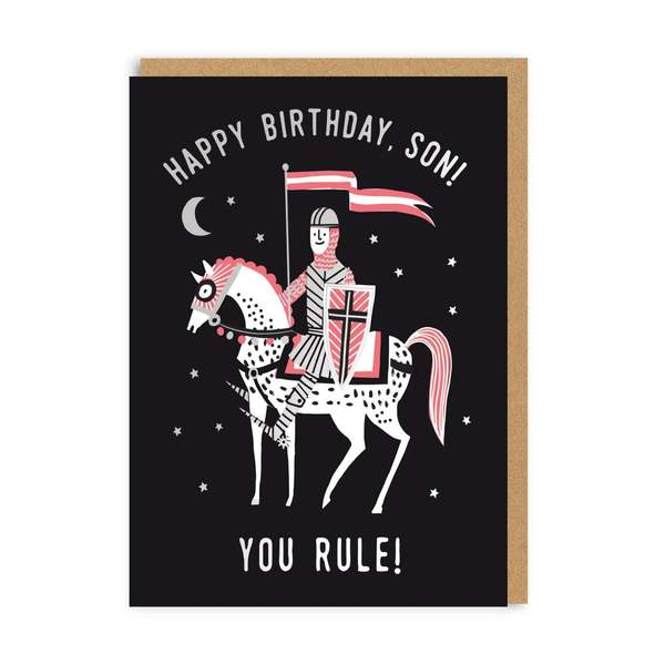 Son You Rule! Happy Birthday Greeting Card