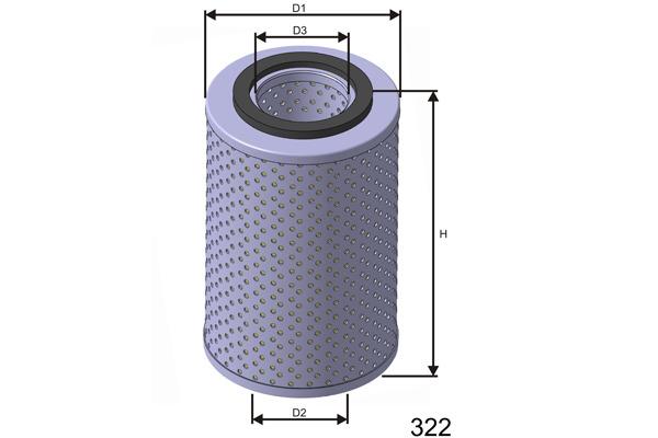Öljynsuodatin MISFAT L408