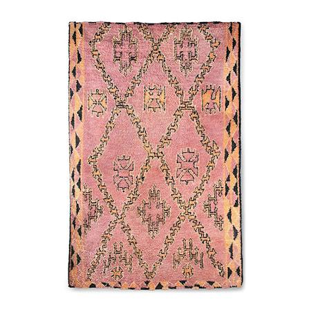 Handgjord Woolen Berber Matta Terra/Orange 180x280 cm