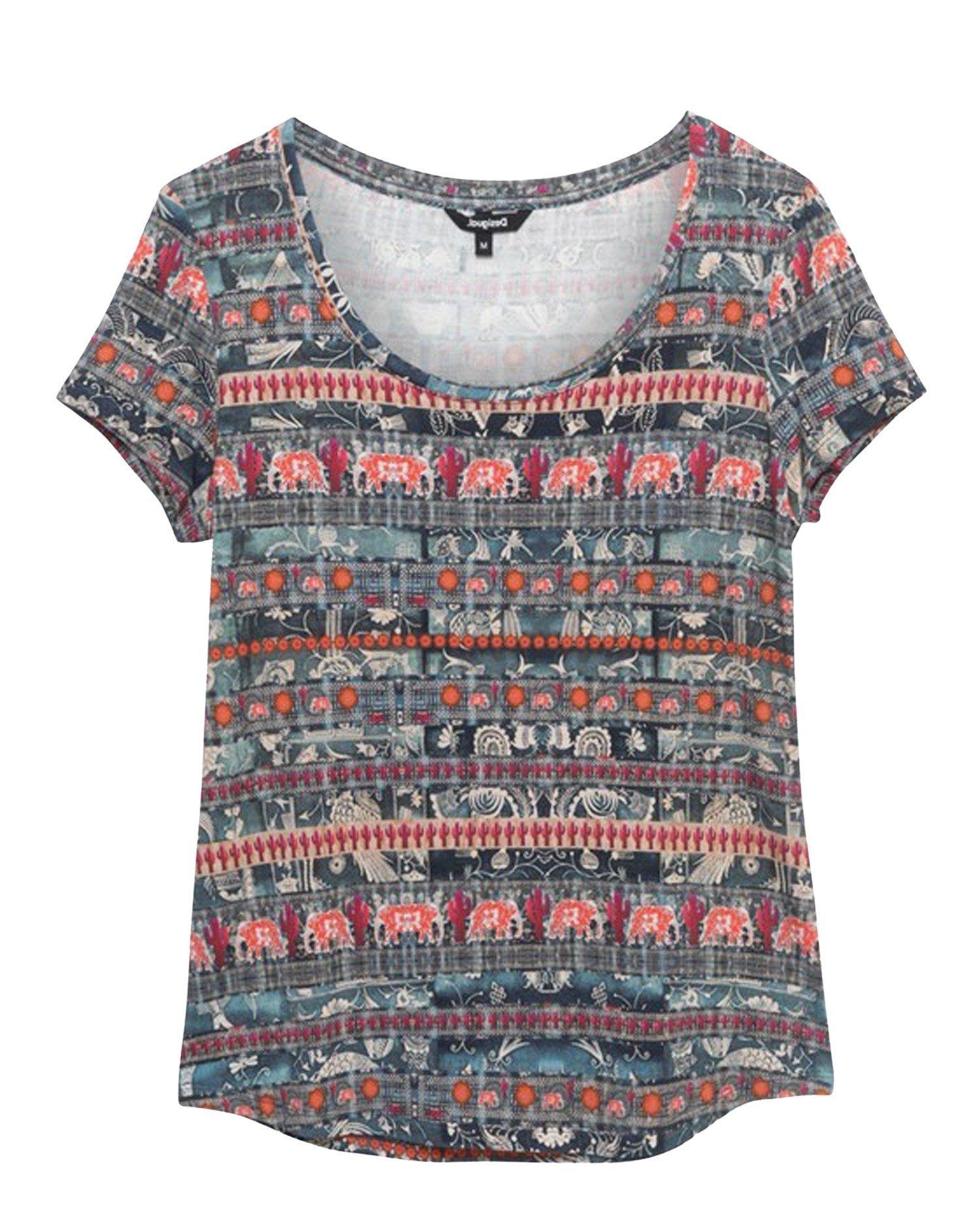 Desigual Women's T-Shirt Various Colours 192577 - multicolor XS